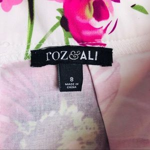 Roz & Ali Skirts - Roz & Ali Floral Daisy Pleated Midi Skirt